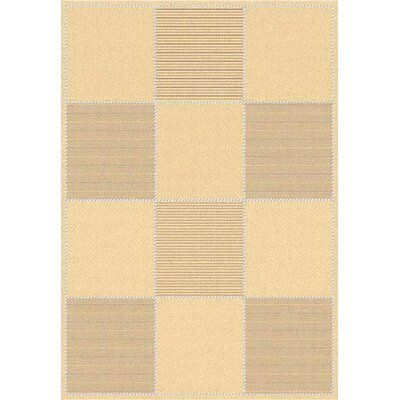 Octavius Natural/Brown Outdoor Rug Rug Size: 53 x 77