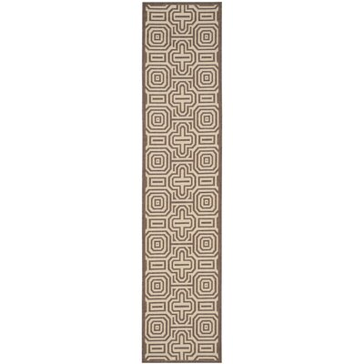Alderman Chocolate/Natural Indoor/Outdoor Rug Rug Size: Runner 24 x 911