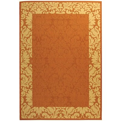 Marland Terracotta/Natural Outdoor Area Rug Rug Size: Rectangle 53 x 77