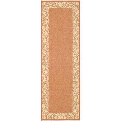 Marland Terracotta/Natural Outdoor Area Rug Rug Size: Runner 24 x 67