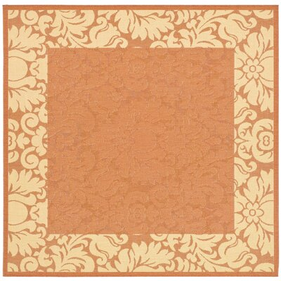 Marland Terracotta/Natural Outdoor Area Rug Rug Size: Square 710