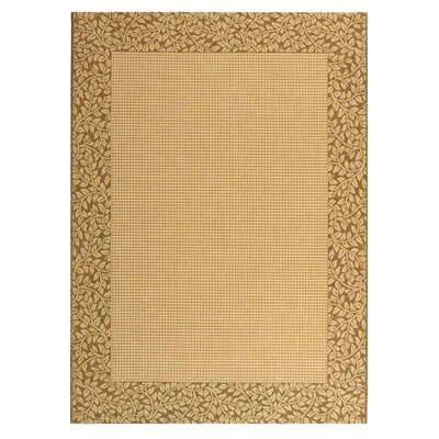 Lippold Brown/Tan Outdoor Area Rug Rug Size: 53 x 77