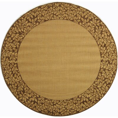 Lippold Brown/Tan Outdoor Area Rug Rug Size: Round 53