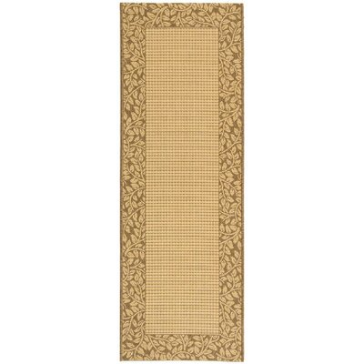 Lippold Brown/Tan Outdoor Area Rug Rug Size: Runner 24 x 67