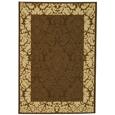 Marland Chocolate/Natural Outdoor Area Rug Rug Size: Runner 23 x 12