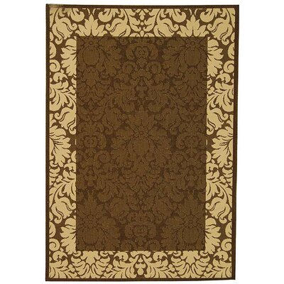 Marland Chocolate/Natural Outdoor Area Rug Rug Size: Rectangle 53 x 77
