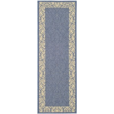 Marland Blue/Natural Area Rug Rug Size: Runner 24 x 911
