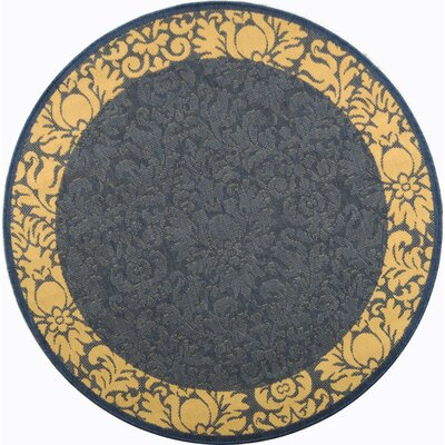 Marland Blue/Natural Area Rug Rug Size: Round 67