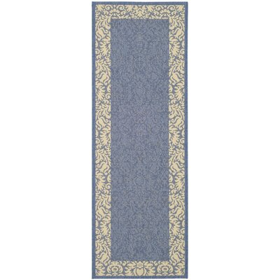 Marland Blue/Natural Area Rug Rug Size: Runner 27 x 5