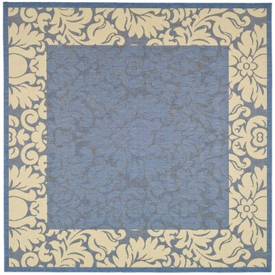 Marland Blue/Natural Area Rug Rug Size: Square 67