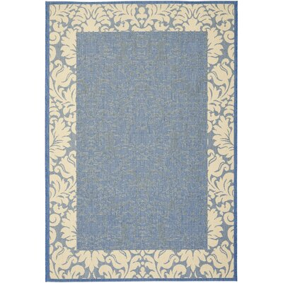 Marland Blue/Natural Area Rug Rug Size: Rectangle 2 x 37