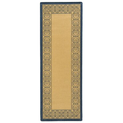 Lansbury Natural Outdoor Area Rug Rug Size: Runner 24 x 911