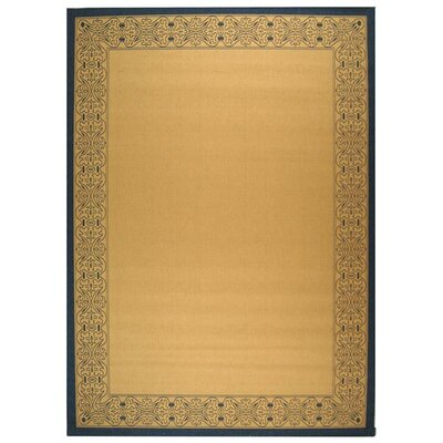 Lansbury Natural Outdoor Area Rug Rug Size: Rectangle 53 x 77