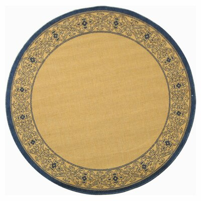 Lansbury Natural Outdoor Area Rug Rug Size: Round 67