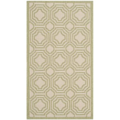 Poole Beige/Sweet Pea Indoor/Outdoor Rug Rug Size: Rectangle 53 x 77