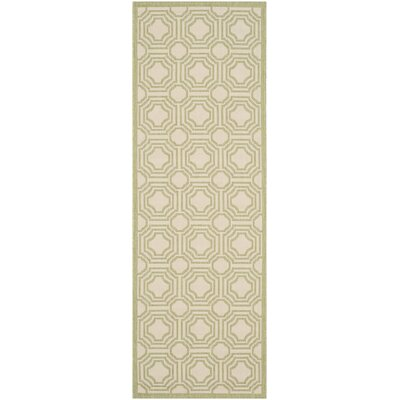 Poole Beige/Sweet Pea Indoor/Outdoor Rug Rug Size: Runner 23 x 67
