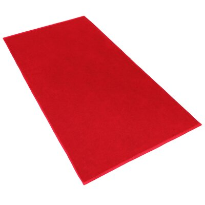 Carbonall Terry Bath Sheet Color: Red