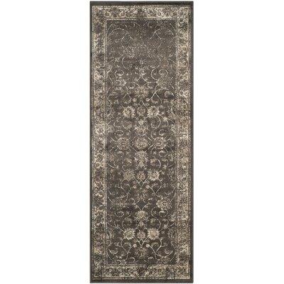Rindge Soft Anthracite Area Rug Rug Size: Runner 22 x 6