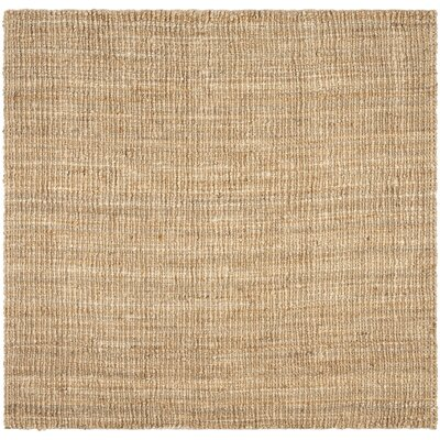 Gaines Hand-Woven Brown Area Rug Rug Size: Square 6