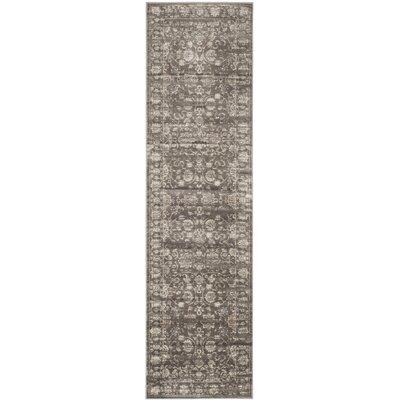 Rindge Brown/Ivory Floral Area Rug Rug Size: Runner 22 x 8