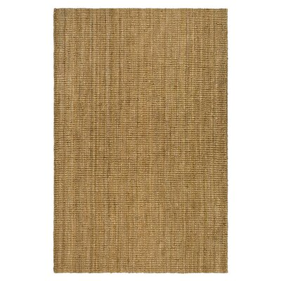 Gaines Hand-Woven Brown Area Rug Rug Size: 4 x 6
