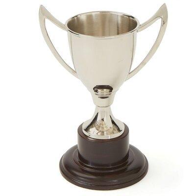Antiqued Brushed Brass Trophy Urn