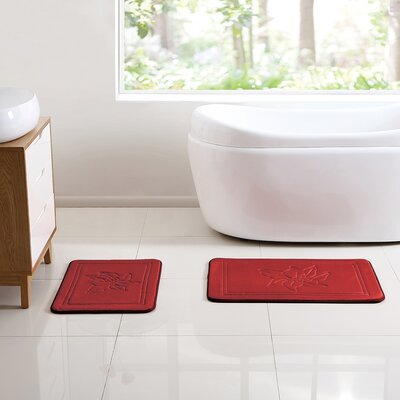 Aspendale Embossed 2 Piece Bath Rug Set