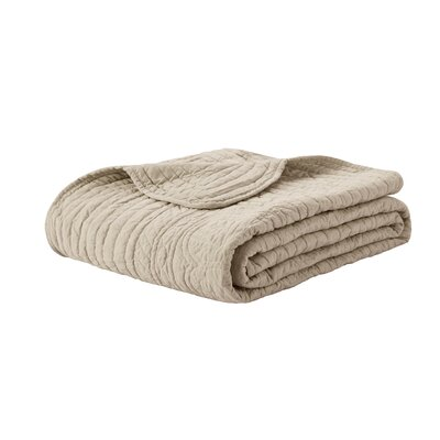 Calaw Quilted Throw Color: Khaki