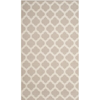 Willow Hand-Woven Gray/Ivory Area Rug Rug Size: Round 6