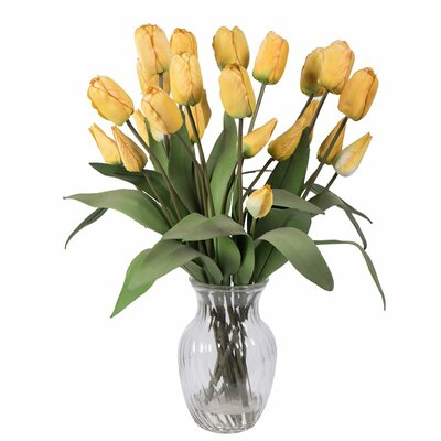 Tulips Floral Arrangements in Glass Vase
