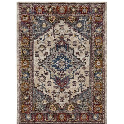 Jura Light Gray/Rose Area Rug Rug Size: 3 x 5