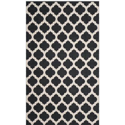Willow Hand-Woven Black/Ivory Area Rug Rug Size: Square 6