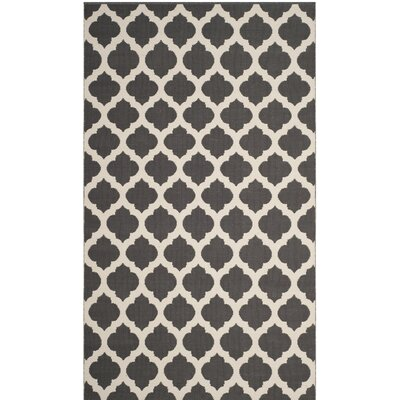 Willow Hand-Woven Dark Gray/Ivory Area Rug Rug Size: Rectangle 4 x 6