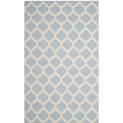 Willow Hand-Woven Light Blue/Ivory Area Rug Rug Size: 3 x 5
