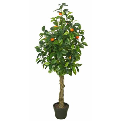 Real Touch Orange Foliage Tree in Pot
