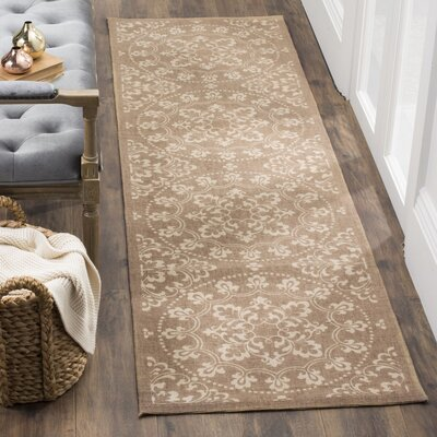Charing Cross Hand-Loomed Taupe / Natural Area Rug Rug Size: Rectangle 23 x 39