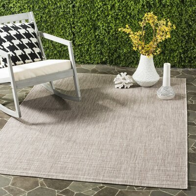 Poole Brown/Beige Indoor/Outdoor Area Rug Rug Size: 53 x 77