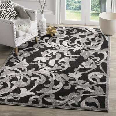 Neil Anthracite/Light Gray Indoor/Outdoor Area Rug Rug Size: Rectangle 4 x 6
