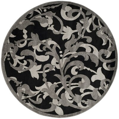Neil Anthracite/Light Gray Indoor/Outdoor Area Rug Rug Size: Round 7 x 7