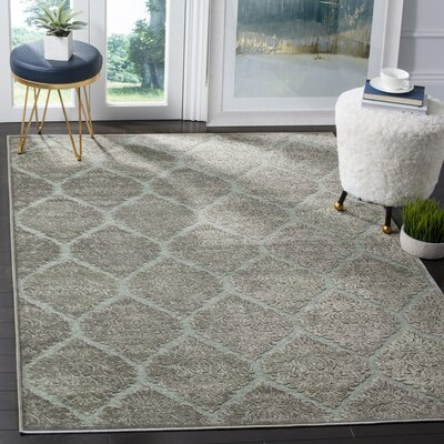 Orville Gray Area Rug Rug Size: 53 x 76