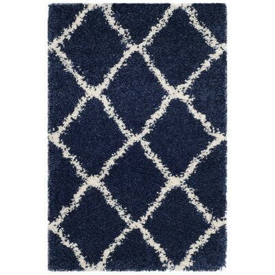 Buford Navy/Ivory Area Rug Rug Size: 2 x 3