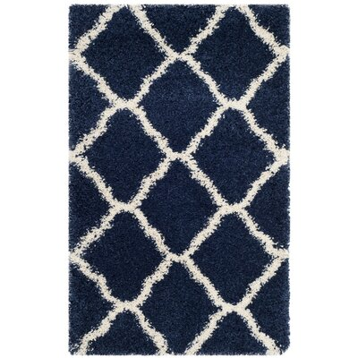 Buford Navy/Ivory Area Rug Rug Size: 23 x 39