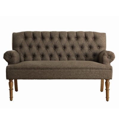Barryknoll Settee Upholstery: Brown