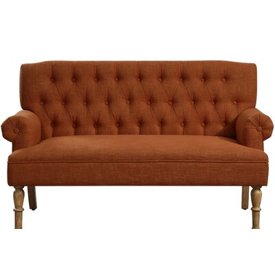 Barryknoll Settee Upholstery: Pumpkin Orange