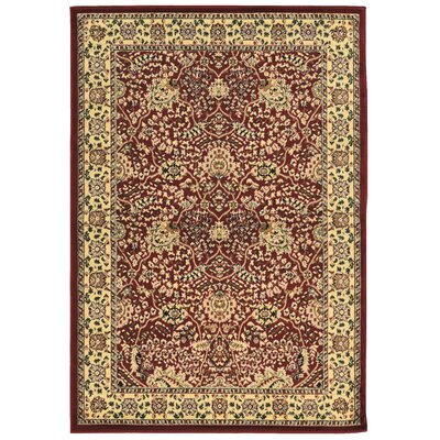 Bloomingdale Red Area Rug Rug Size: Rectangle 8' x 10'