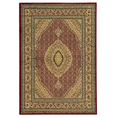 Bloomingdale Red Area Rug Rug Size: 5 x 7