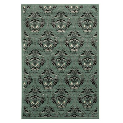 Bloomingdale Blue Area Rug Rug Size: 2 x 3