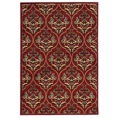 Bloomingdale Red Area Rug Rug Size: Rectangle 5 x 7