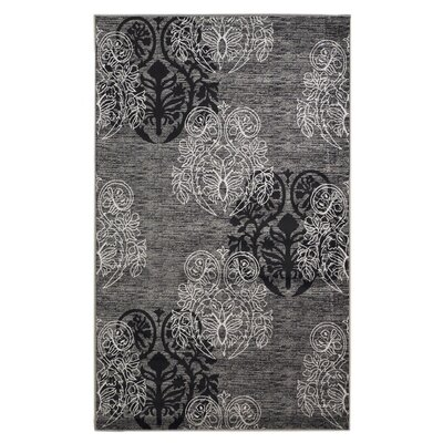 Bloomington Gray/Black Area Rug Rug Size: Rectangle 5 x 77