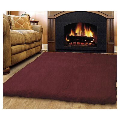 Bloomville Hand-Woven Wine Area Rug Rug Size: Rectangle 5 x 8